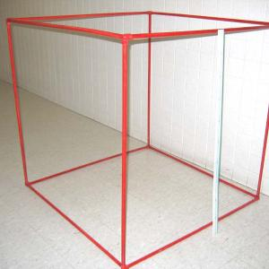 Get the PVC rods from the Mechanics demo section and assemble the cubic meter.  If done properly, you can carry the cube around without it coming apart.