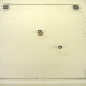 Place the Plexiglas plate with attached ring magnet on the overhead projector.