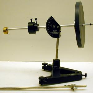 The Pasco unit can be used for precision measurements of precession and conservation of angular momentum.